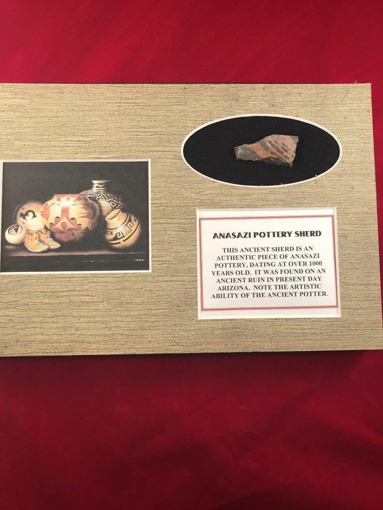 ANASAZI  POTTERY SHERD INDIAN ARTIFACT ARROWHEAD