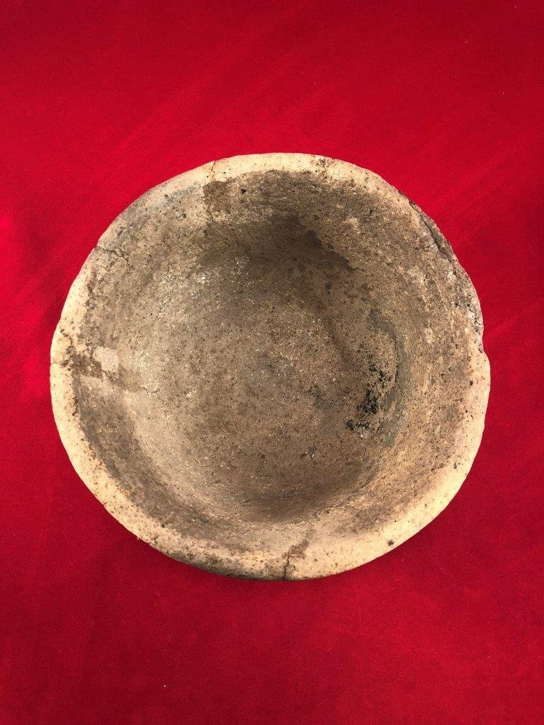 MISSISSIPPIAN PIE CRUST BOWL INDIAN ARTIFACT ARROWHEAD - 2