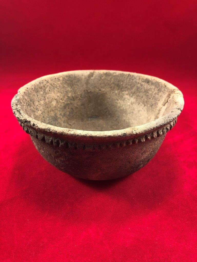 MISSISSIPPIAN PIE CRUST BOWL INDIAN ARTIFACT ARROWHEAD - 3