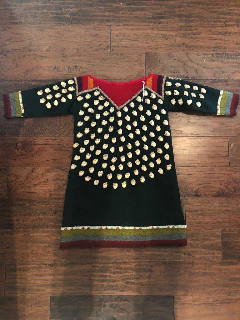 RESERVATION STYLE FAUX ELK TOOTH DRESS