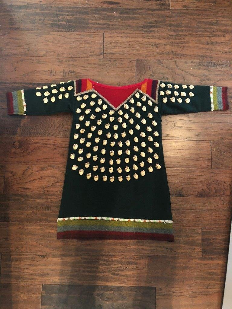 RESERVATION STYLE FAUX ELK TOOTH DRESS - 2