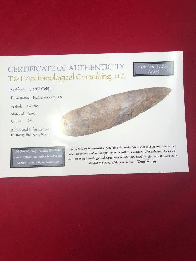 COBBS   INDIAN ARTIFACT ARROWHEAD WITH COA - 5