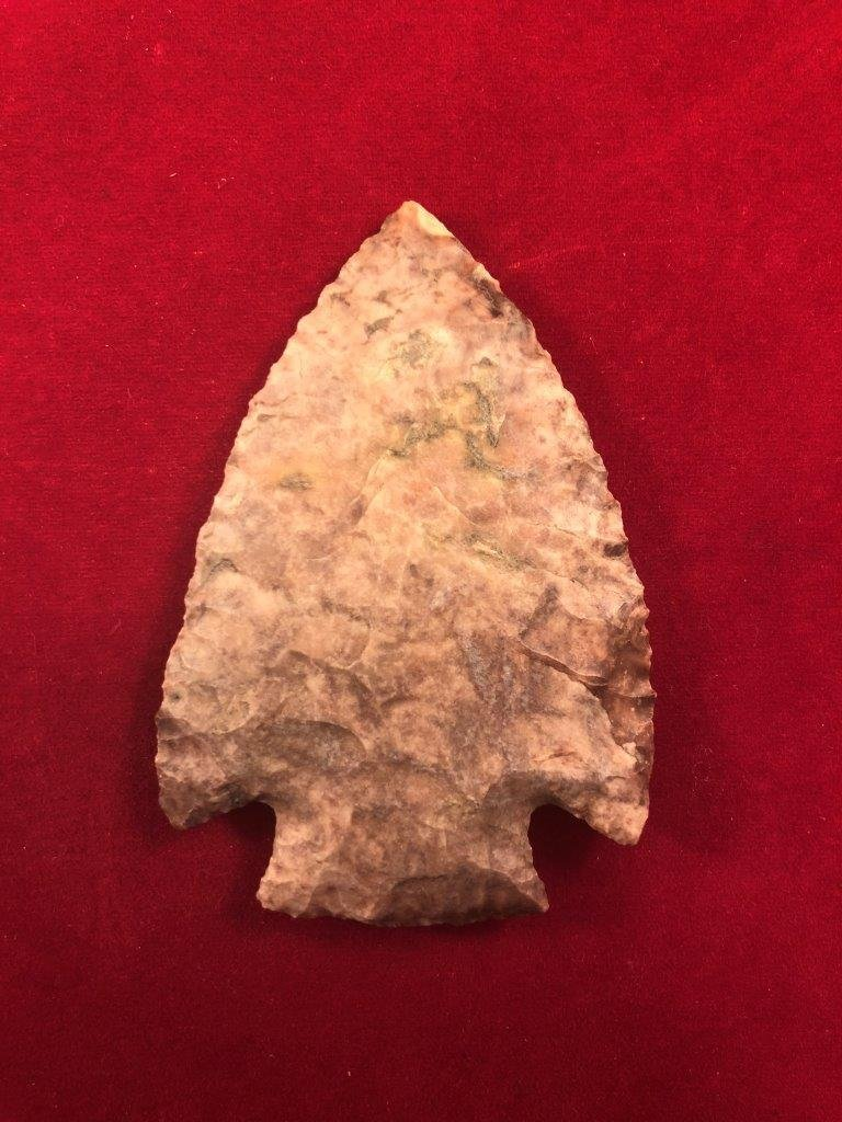 CHESSER  INDIAN ARTIFACT ARROWHEAD WITH COA - 3