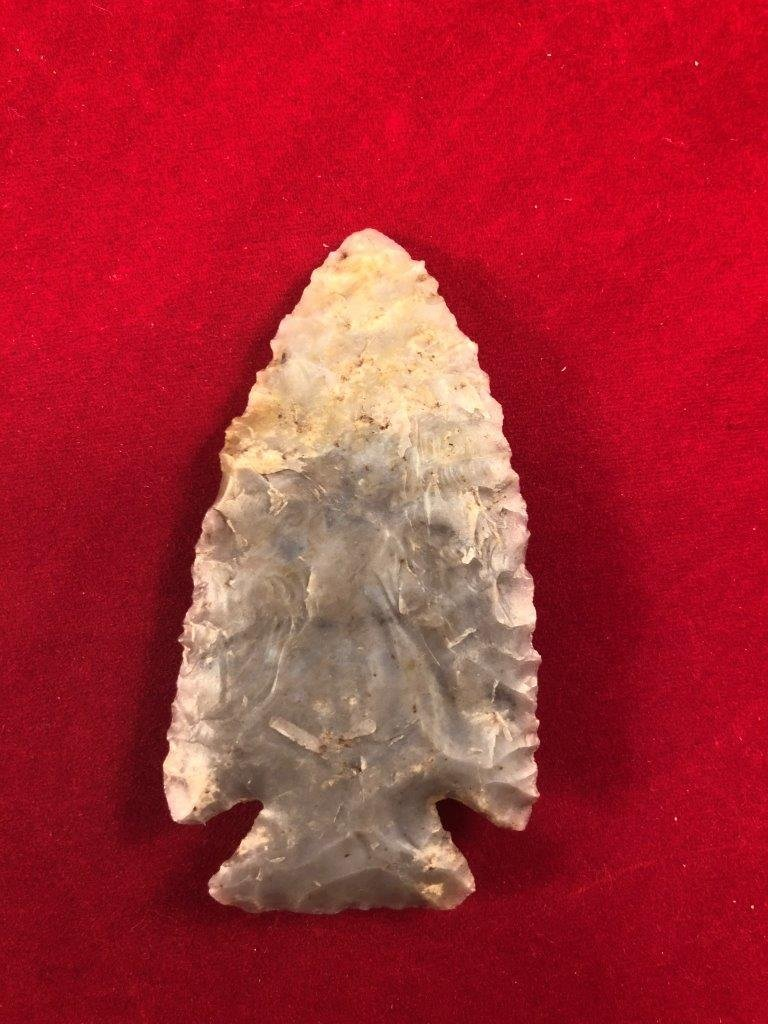KIRK CORNER NOTCHED INDIAN ARTIFACT ARROWHEAD WITH  COA - 3