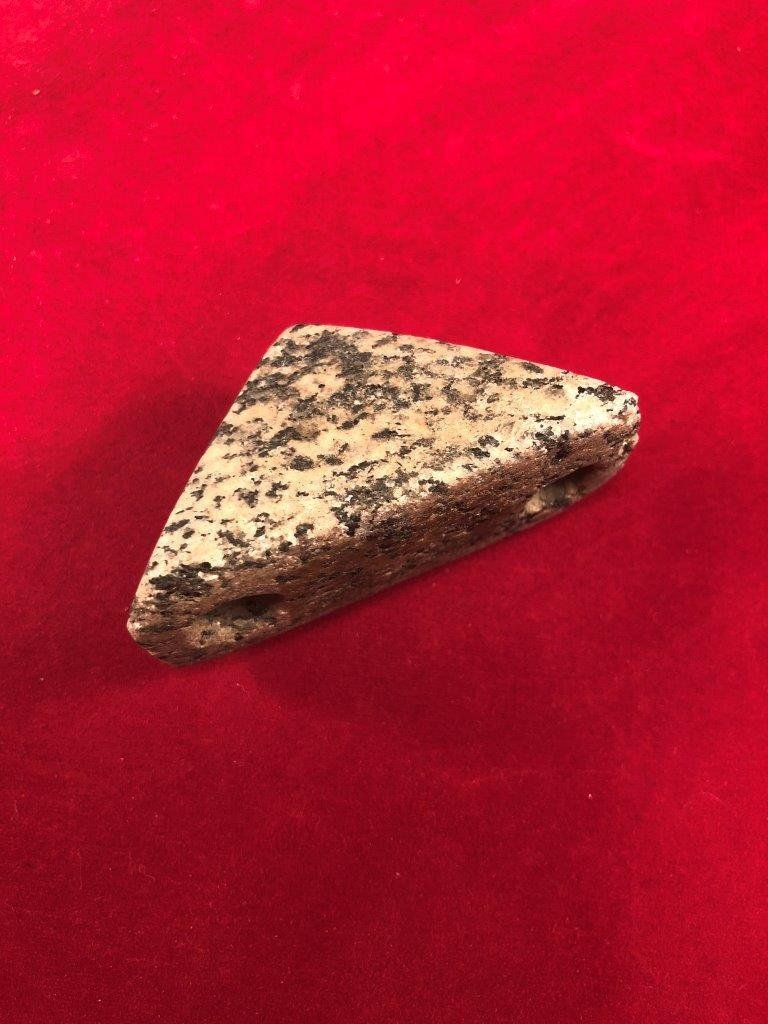 BOATSTONE  INDIAN ARTIFACT ARROWHEAD  WITH  COA - 2