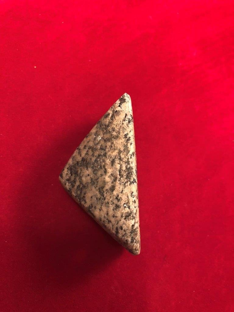 BOATSTONE  INDIAN ARTIFACT ARROWHEAD  WITH  COA - 5