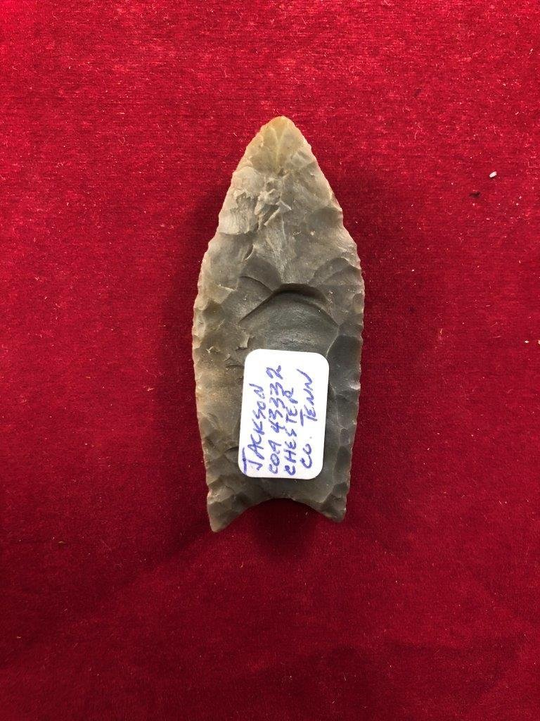 CLOVIS      INDIAN ARTIFACT ARROWHEAD WITH COA - 2
