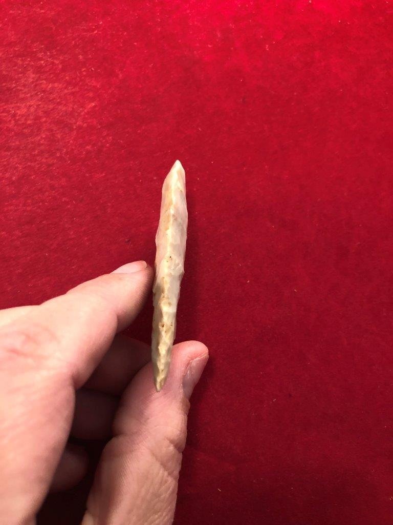 CLOVIS      INDIAN ARTIFACT ARROWHEAD WITH COA - 4