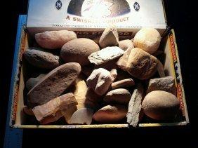 Cigar Box Full Of Indian Artifacts