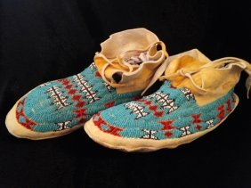 BEADED MOCCASINS