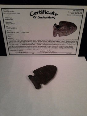 NEWTON FALLS ARROWHEAD WITH KEN PARTAIN COA
