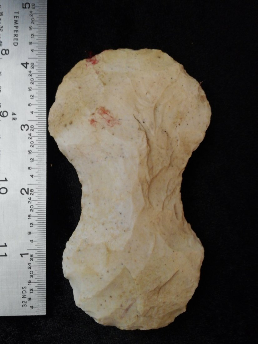 CHIPPED AXE  ARROWHEAD INDIAN ARTIFACTS