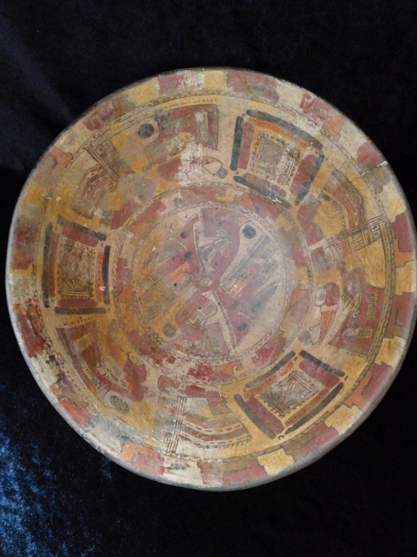 MAYAN TRI-POD BOWL WITH RATTLE LEGS - 2