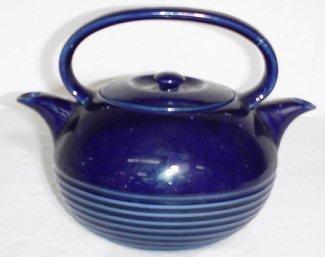 4: Halls Twinspout Cobalt Blue Tea Master Teapot w/ Lid