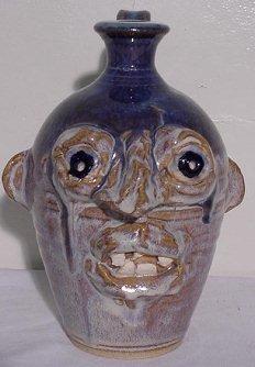 "9: Seagrove NC Pottery Face Jug 9"" Tall"