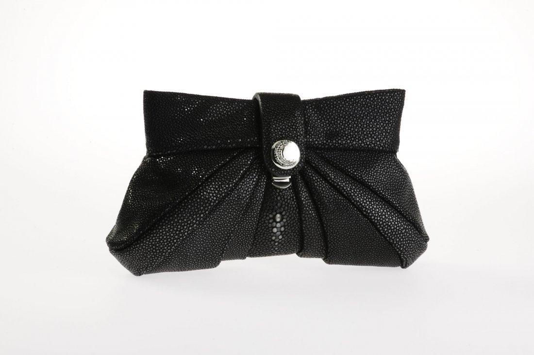 Jackie Stingray Clutch - Black w/ Diamonds