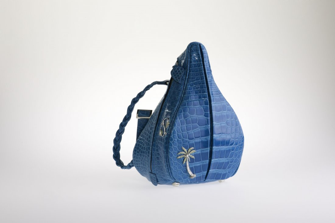 Scarlett Alligator Backpack - Blue Atol