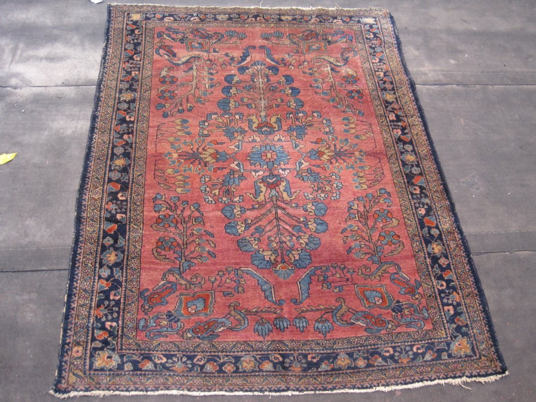 Persian Lilian hand made rug  wool  4.10 x 6.5