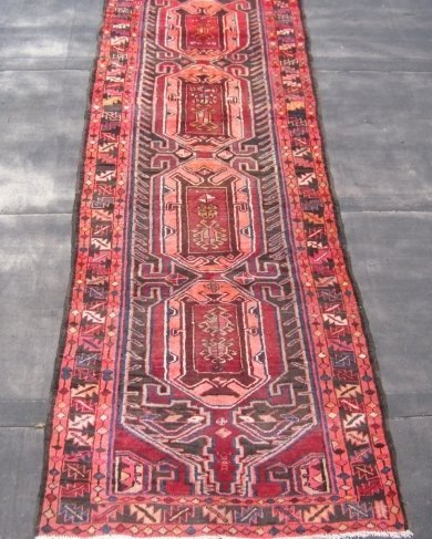 Persian Heriz Runner  3.5 x 12.7