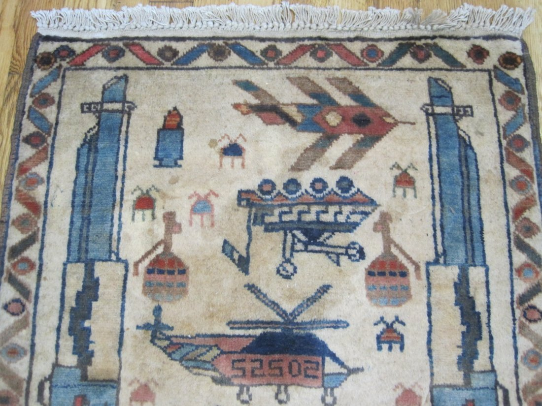 Afghan War Rug  , collectible item size  2.7 x 2.1