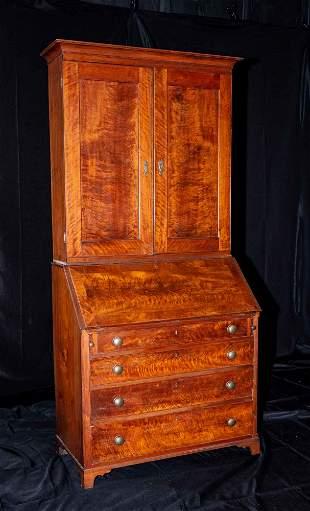 Ohio Walnut Desk and Bookcase