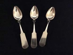 Three GARNER & WINCHESTER Tablespoons