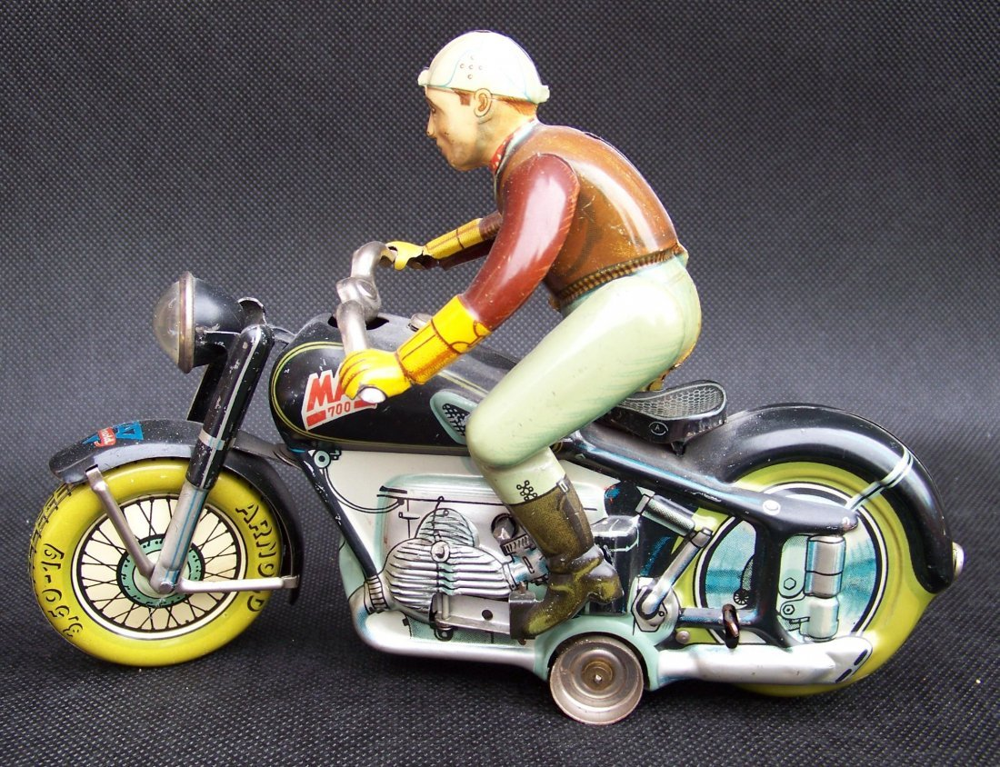 Arnold Mac 700 Tin Toy Motorcycle, ca. 1950