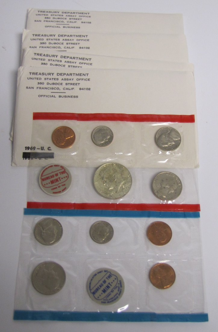 4 - 1969 Uncirculated Sets