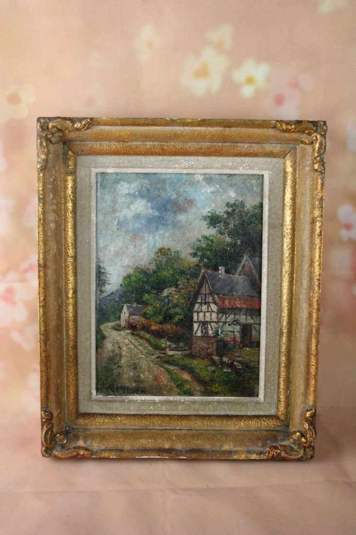 Frans van Genesen signed 1887-1945 oil on canvas