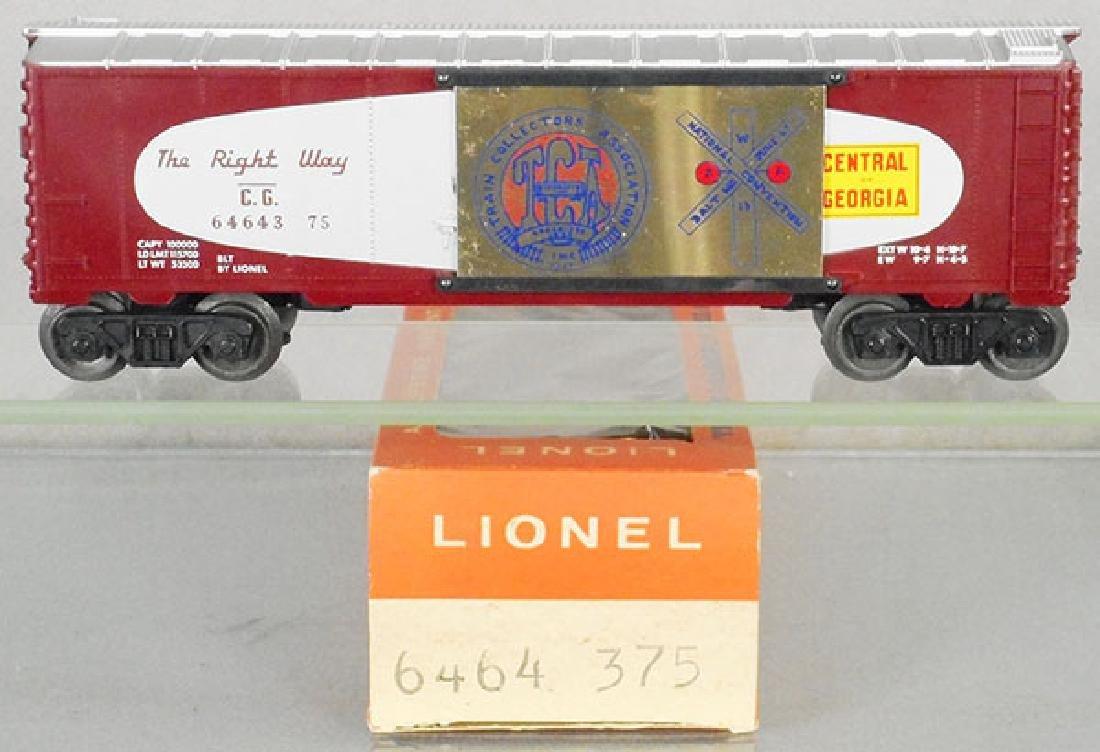 LIONEL 6464-375 TCA CENTRAL OF GA BOX CAR