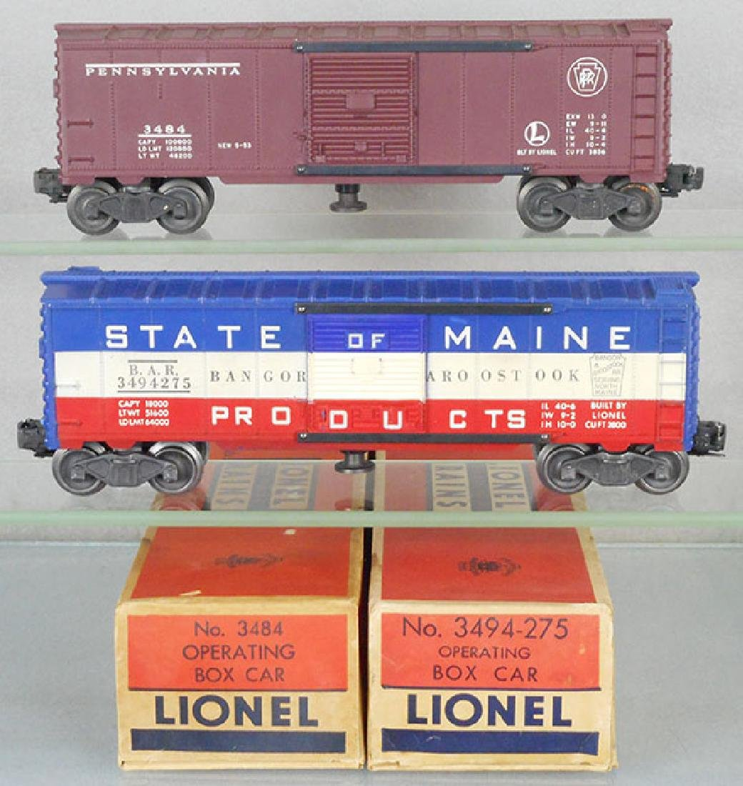 2 LIONEL OPERATING BOX CARS