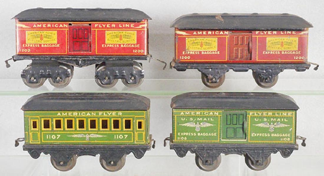 4 AMERICAN FLYER CARS