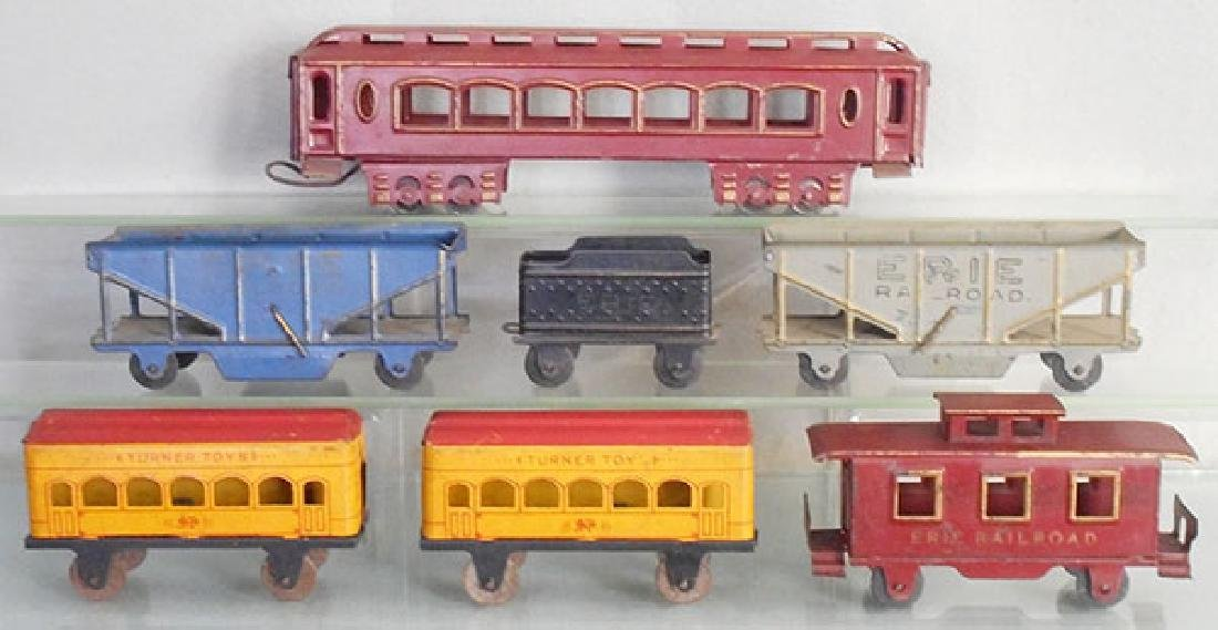 7 TURNER TOYS TRAIN CARS