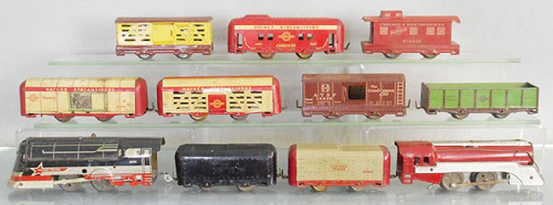 2 HAFNER TRAIN SETS