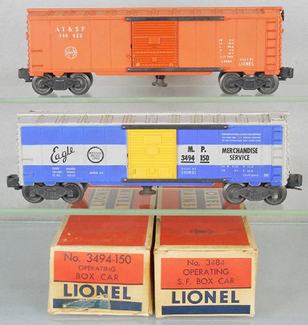 2 LIONEL OPERATING BOX CARS