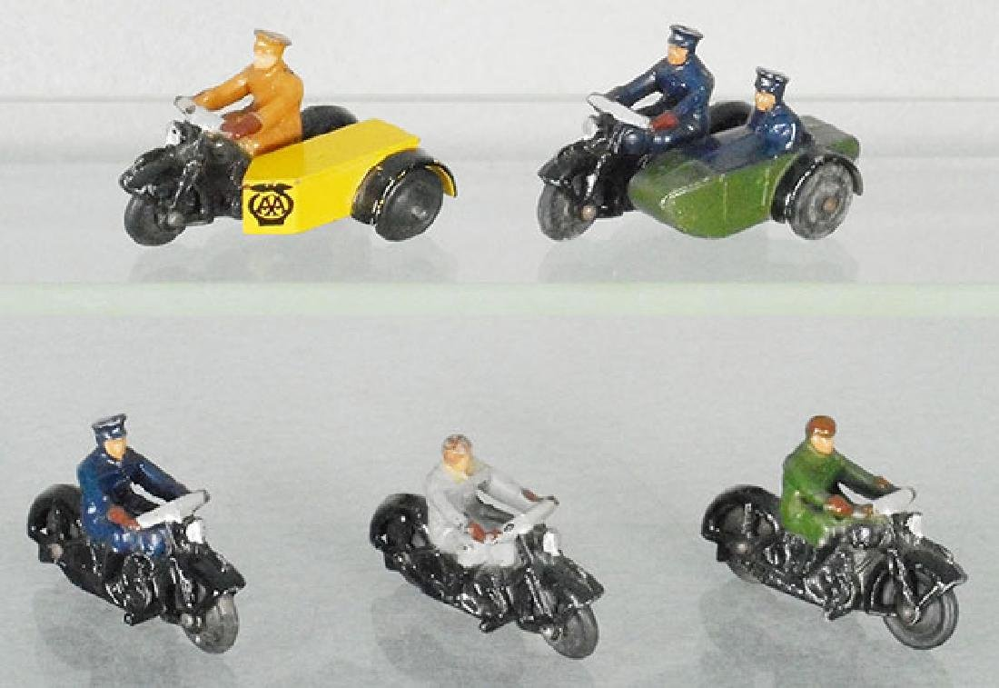 5 DINKY MOTORCYCLES