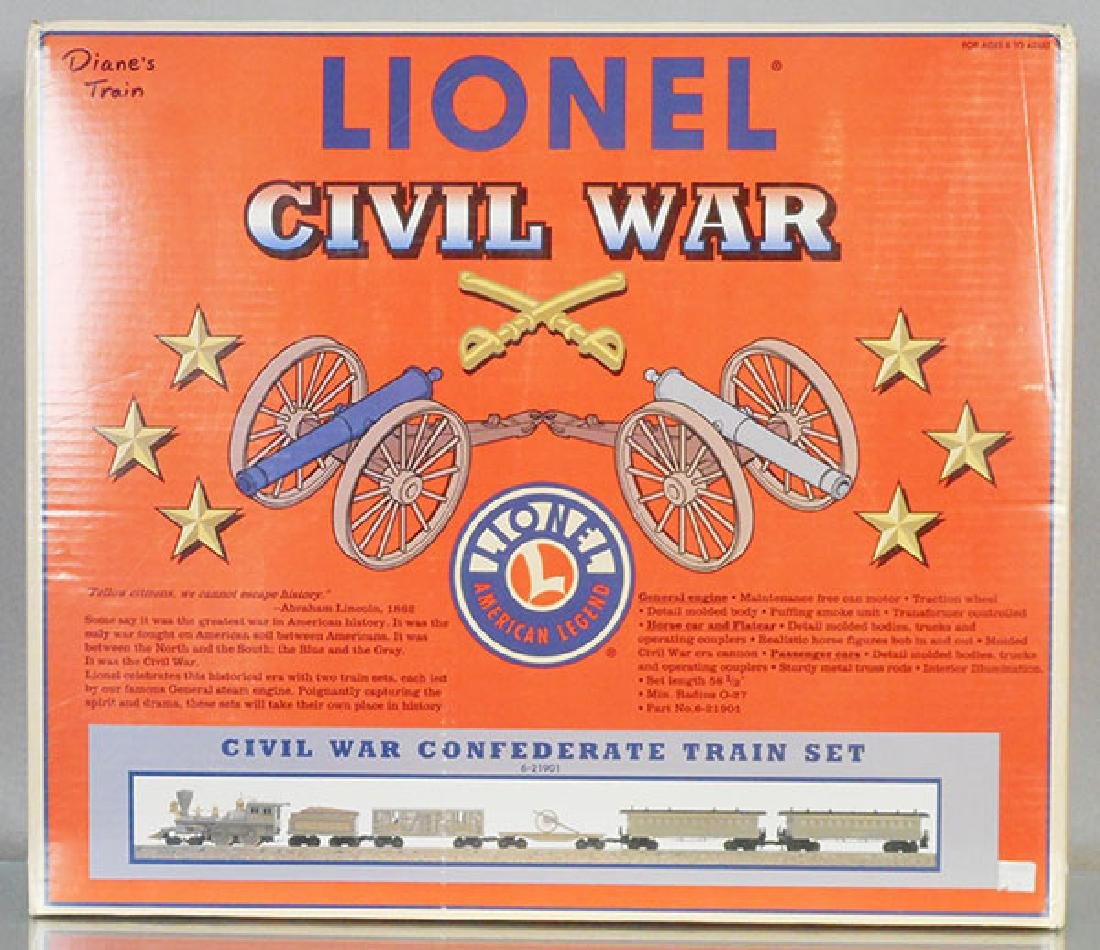 LIONEL 21901 CIVIL WAR CONFEDERATE TRAIN SET