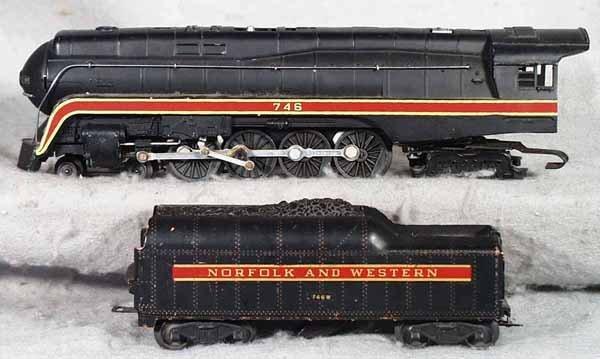018: LIONEL 746 N&W LOCO & TENDER