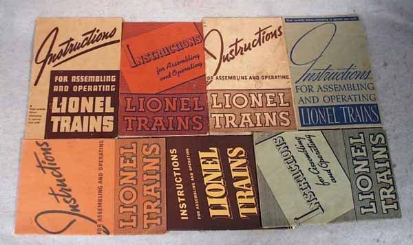 020: 20 ORIG LIONEL INSTRUCTION BOOKLETS