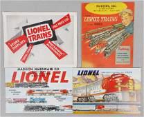 4 LIONEL 1953 CATALOGS