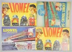 4 LIONEL 1954 CATALOGS