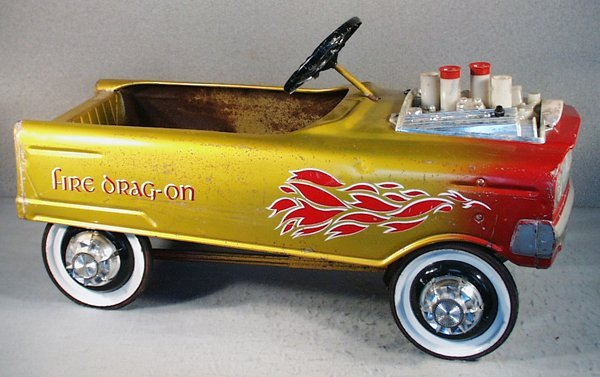 143: MURRAY FIRE DRAG-ON HOT ROD PEDAL CAR
