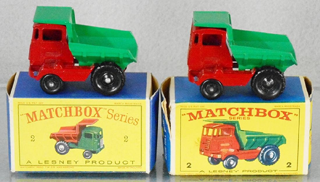 2 MATCHBOX MUIR HILL DUMPERS