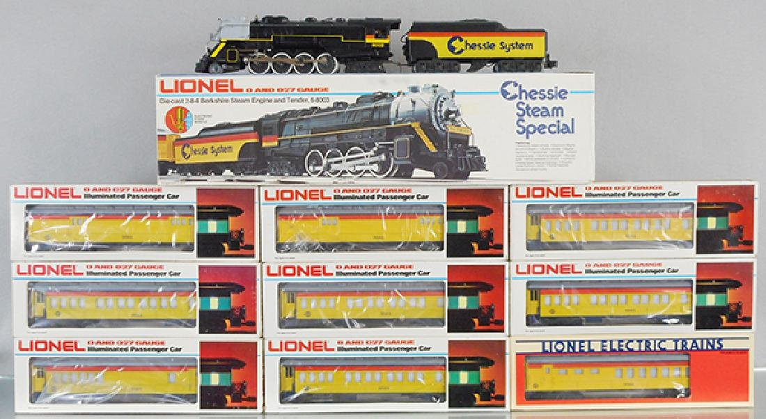 LIONEL CHESSIE STEAM TRAIN SET