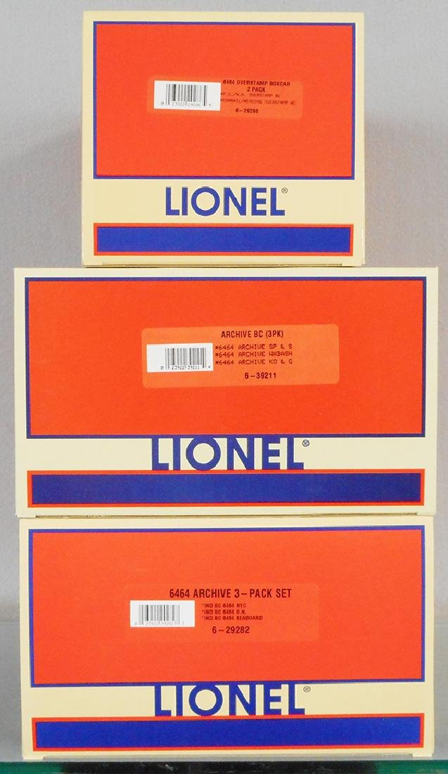 3 LIONEL BOX CAR SETS