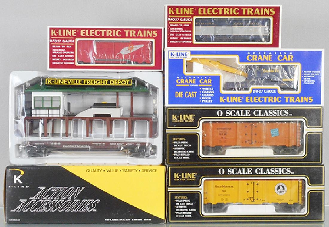 6 K-LINE FREIGHT CARS