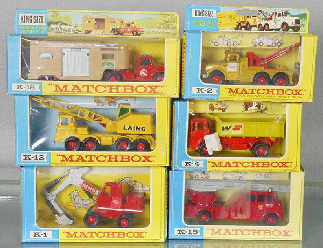 6 MATCHBOX KING SIZE VEHICLES