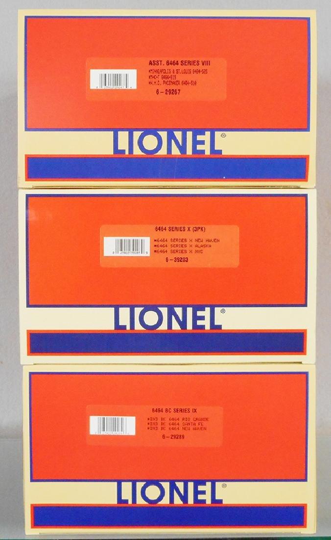 3 LIONEL BOX CAR SETS