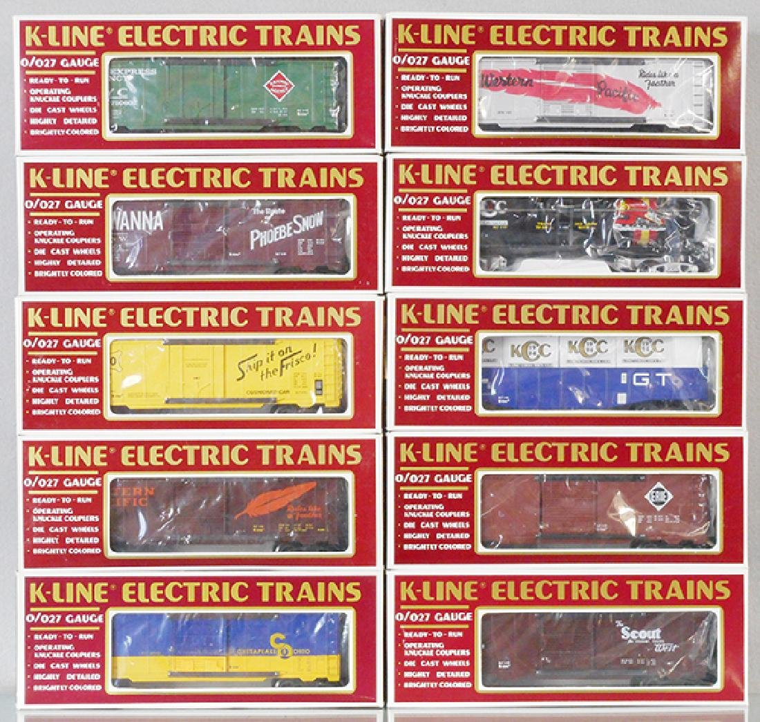10 K-LINE FREIGHT CARS