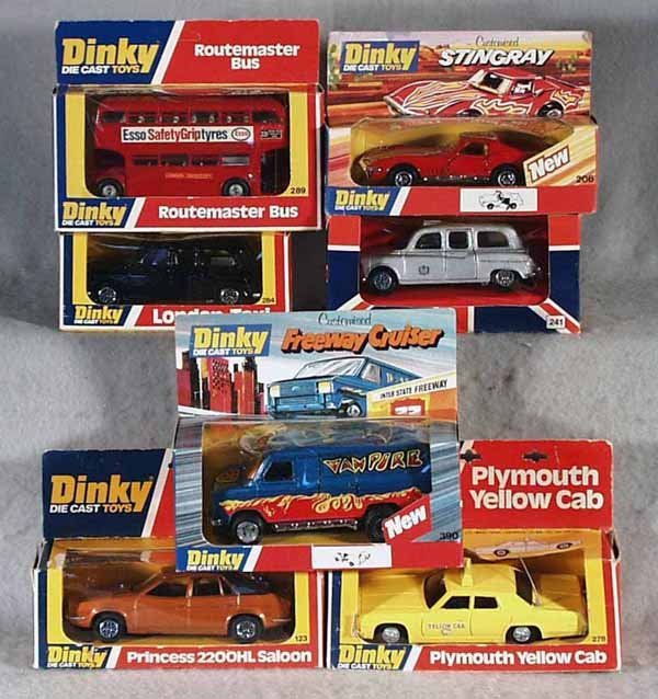 022A: 7 DINKY VEHICLES